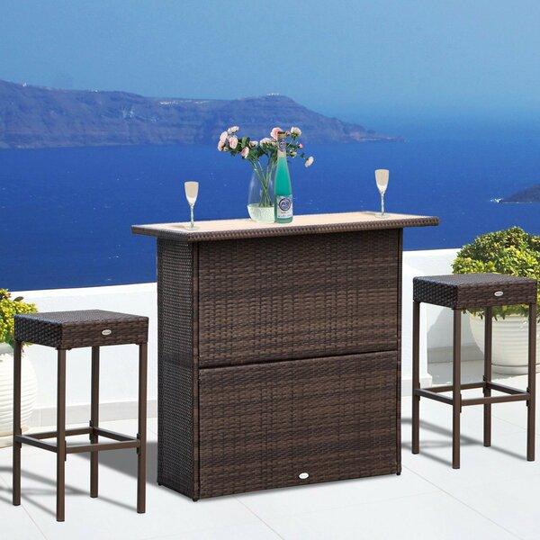 Hardt 3 Piece Bar Height Dining Set by Ebern Designs