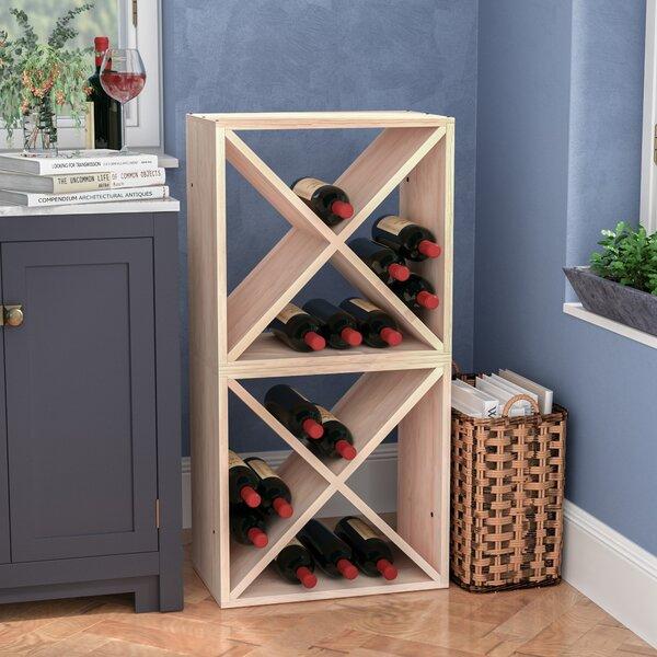Karnes 48 Bottle Floor Wine Bottle Rack by Red Barrel Studio Red Barrel Studio