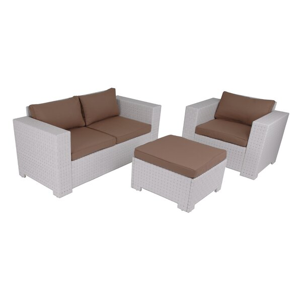 Prunedale Outdoor 3 Piece Sofa Seating Group with Cushions by Latitude Run