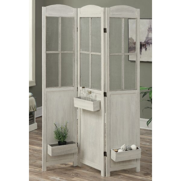 Peaslee 3 Panel Room Divider by August Grove