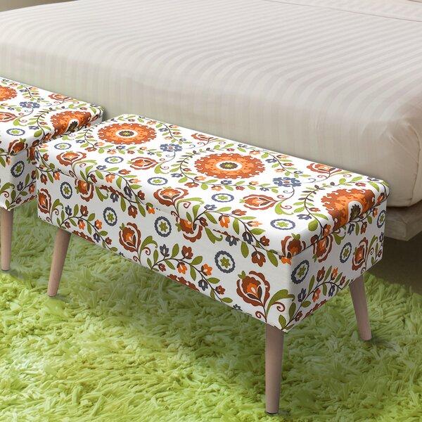 Valdovinos Mid Century Upholstered Storage Bench by George Oliver