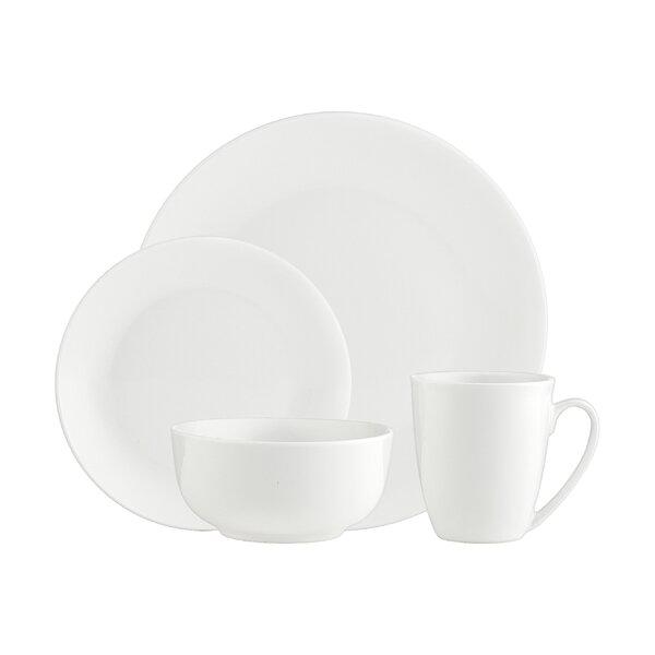 Alora Plain 16 Piece Dinnerware Set, Service for 4 by Godinger Silver Art Co