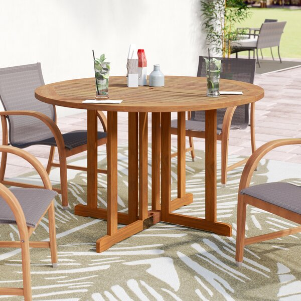 Fabius Round Folding Dining Table by Bayou Breeze