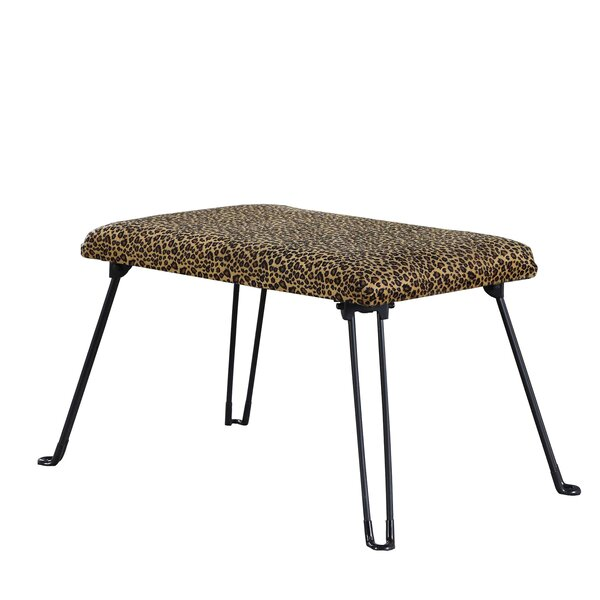 Dana Point Leopard Backless Vanity Stool by Bloomsbury Market