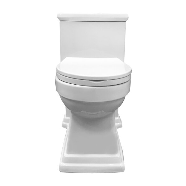 Block High Efficiency Dual Flush Elongated One-Piece Toilet by Innoci-USA
