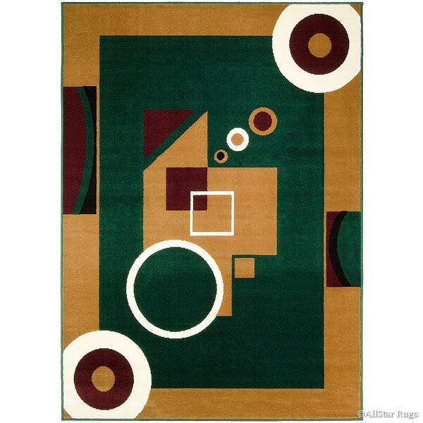 Hand-Woven Green/Brown Area Rug by AllStar Rugs