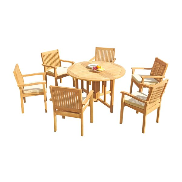 Mashburn 7 Piece Teak Dining Set by Rosecliff Heights