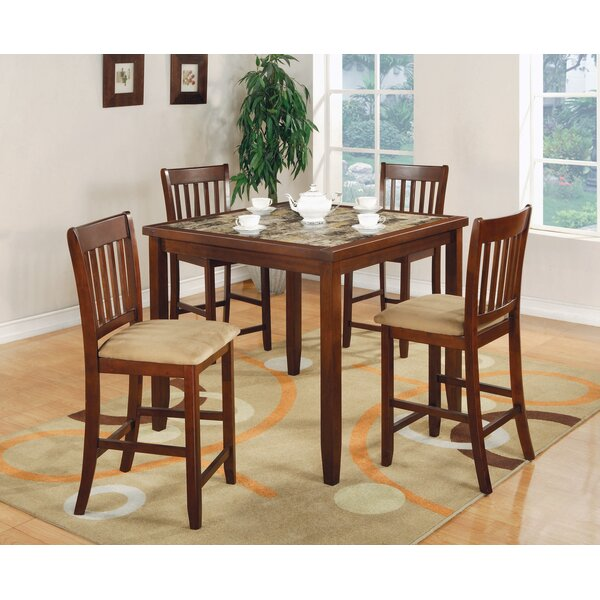 Boretti 5 Piece Counter Height Dining Set by Red Barrel Studio Red Barrel Studio