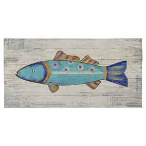 'Funky Fish 2' Painting Print on Plaque by Highland Dunes
