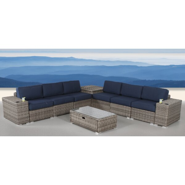Leamon 10 Piece Rattan Sunbrella Sofa Set with Cushions by Sol 72 Outdoor