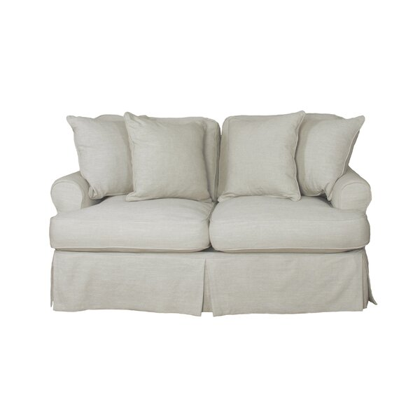 Callie Slipcovered Loveseat by August Grove August Grove
