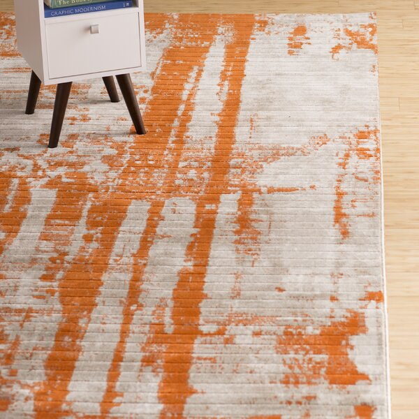Wrought Studio Ferrint Orange Area Rug Amp Reviews Wayfair