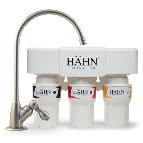 3 Stage Under Sink Water Filtration System by Hahn