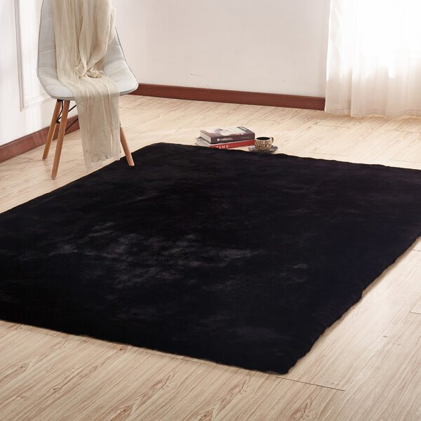 Affric Black Area Rug by Everly Quinn
