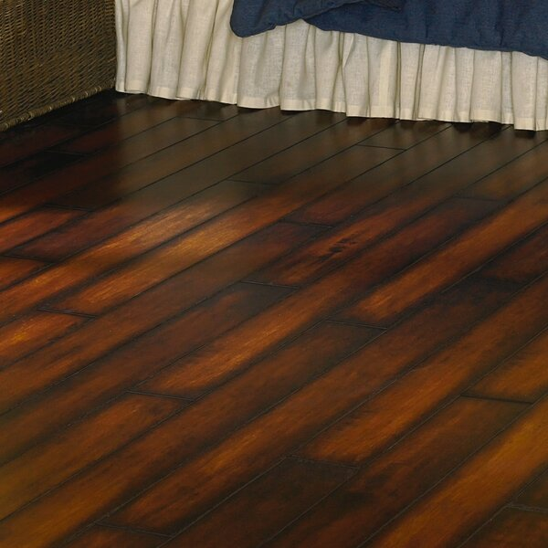 Revolutions 5'' x 51'' x 8mm Maple Laminate Flooring in Saddle by Mannington