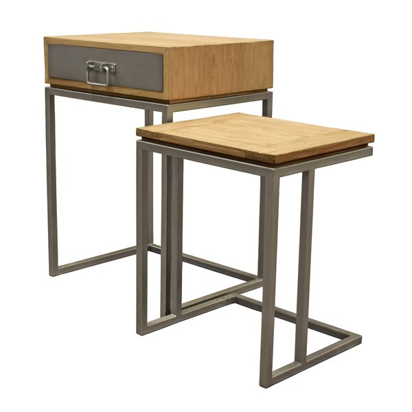 Hinkel 2 Piece Nesting Tables (Set of 2) by Williston Forge Williston Forge
