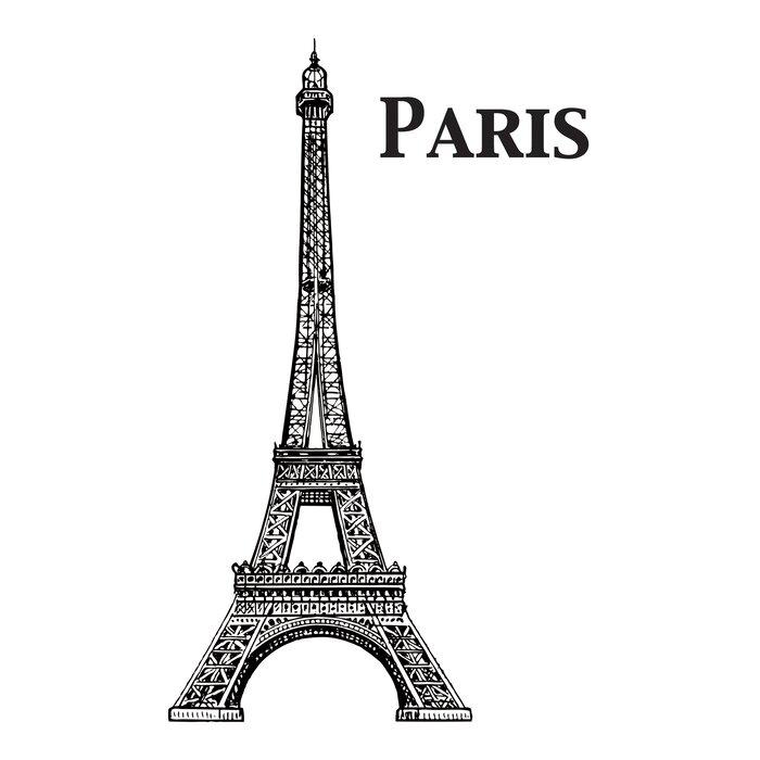 Home Decor Line Eiffel Tower Wall Decal