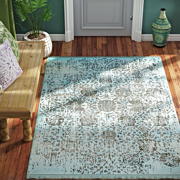 Lonerock European Light Blue Area Rug by Bungalow Rose
