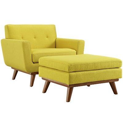 Admirable Langley Street Johnston Club Chair And Ottoman Upholstery Sunny Cjindustries Chair Design For Home Cjindustriesco