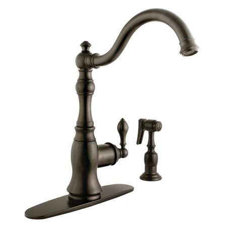 American Classic Single Handle Kitchen Faucet with Side Spray by Kingston Brass
