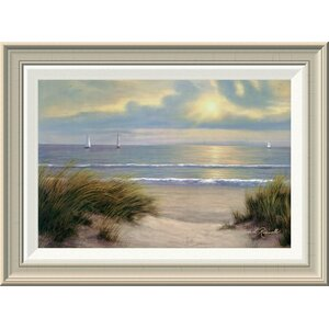'Gentle Breeze' by Diane Romanello Framed Painting Print by Global Gallery