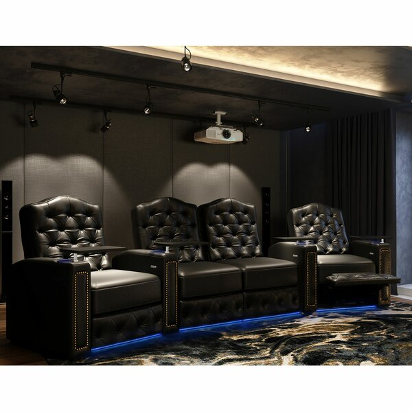 Regal HR Series Curved Home Theater Loveseat (Row Of 4) By Winston Porter