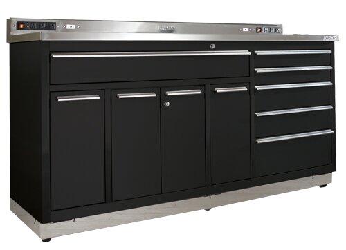 Garage Workstation 72 Wide 10 Drawer Bottom Cabinet by Viper Tool Storage