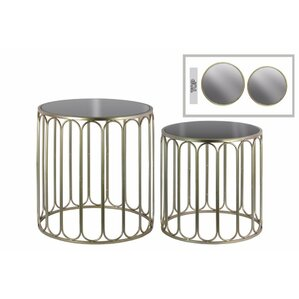 Abdera 2 Pieces Nesting Tables with Mirror T..