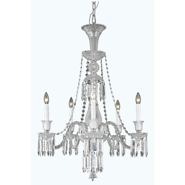 Leonardo 5 - Light Candle Style Classic / Traditional Chandelier By Rosdorf Park