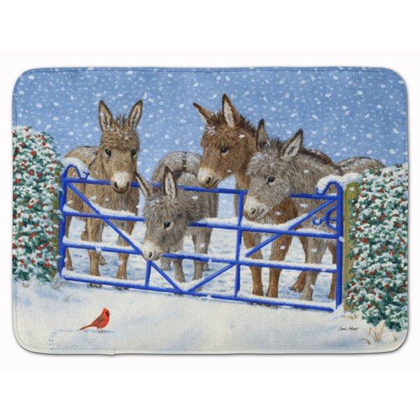 Donkeys and Cardinal Memory Foam Bath Rug by East Urban Home