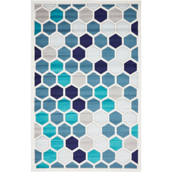 Maryrose Blue Area Rug by Zipcode Design