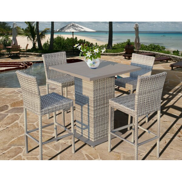 Ansonia 5 Piece Bar Height Dining Set by Rosecliff