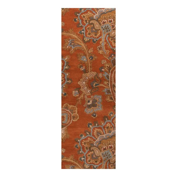 Busch Copper Penny Hand-Woven Rug by Alcott Hill
