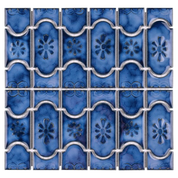 Mondego Porcelain Mosaic Tile in Blue by EliteTile