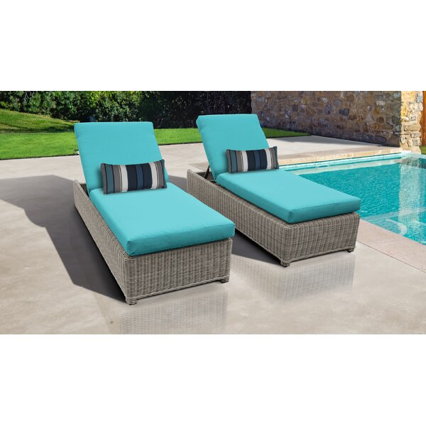 Claire Sun Lounger Set with Cushion (Set of 2) by Rosecliff Heights