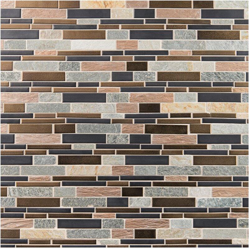 Triton Interlocking Pattern Porcelain Stone Mosaic Tile In Brown