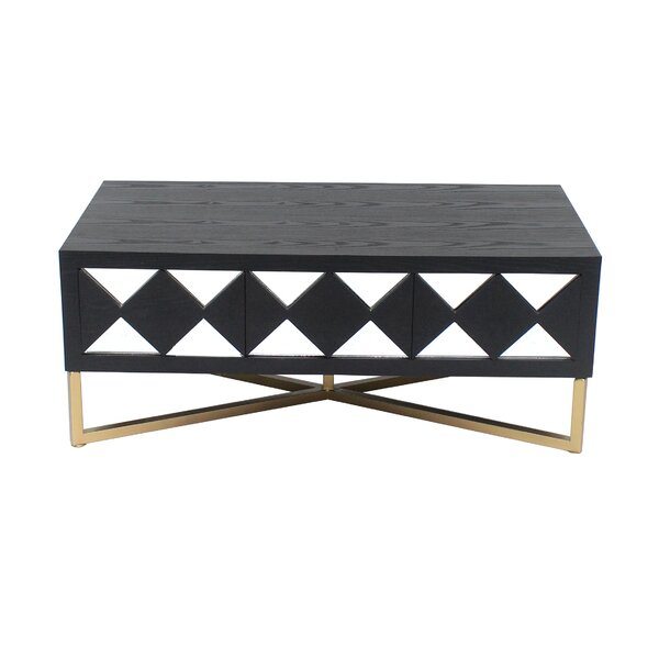 Granby Wood Coffee Table with Storage by Everly Quinn