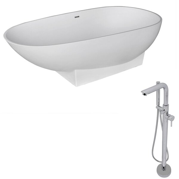 Volo 70.8 x 35.5 Freestanding Soaking Bathtub by ANZZI