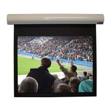 Lectric I Matte Black Electric Projection Screen Low Voltage Motor by Vutec