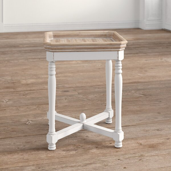 Jesup Square Shaped Wooden Tray Table By Ophelia & Co.