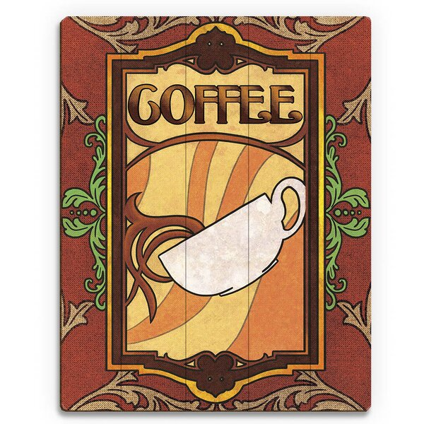 Coffee Vintage Advertisement on Plaque by Click Wall Art