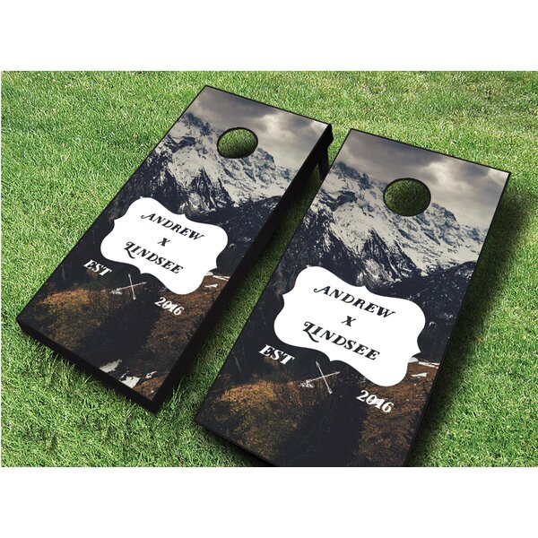 Wedding Mountains Cornhole Set by AJJ Cornhole