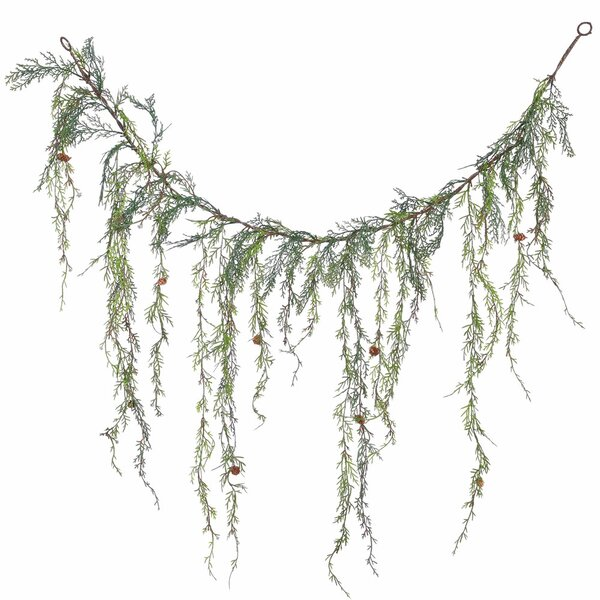 Weeping Cedar Artificial Christmas Garland Unlit by Alcott Hill