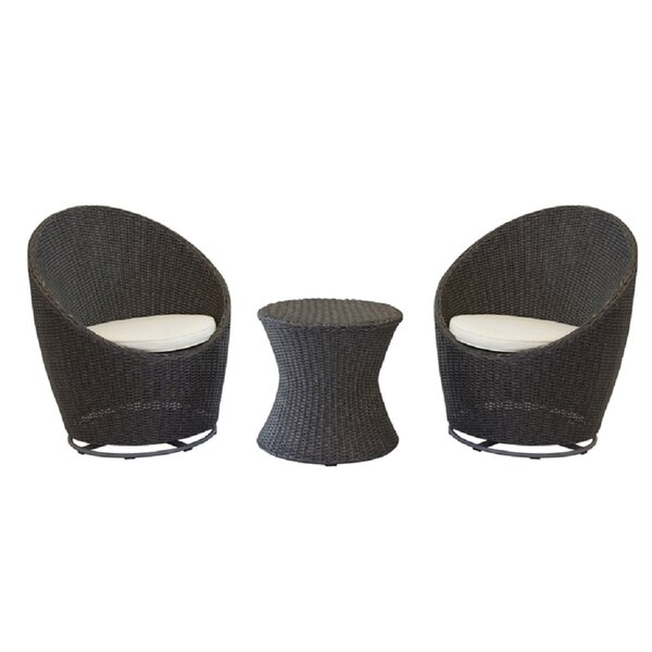 Horace 3 Piece Seating Group with Cushions by Highland Dunes