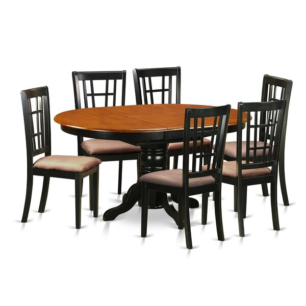 7 Piece Extendable Dining Set by East West Furniture