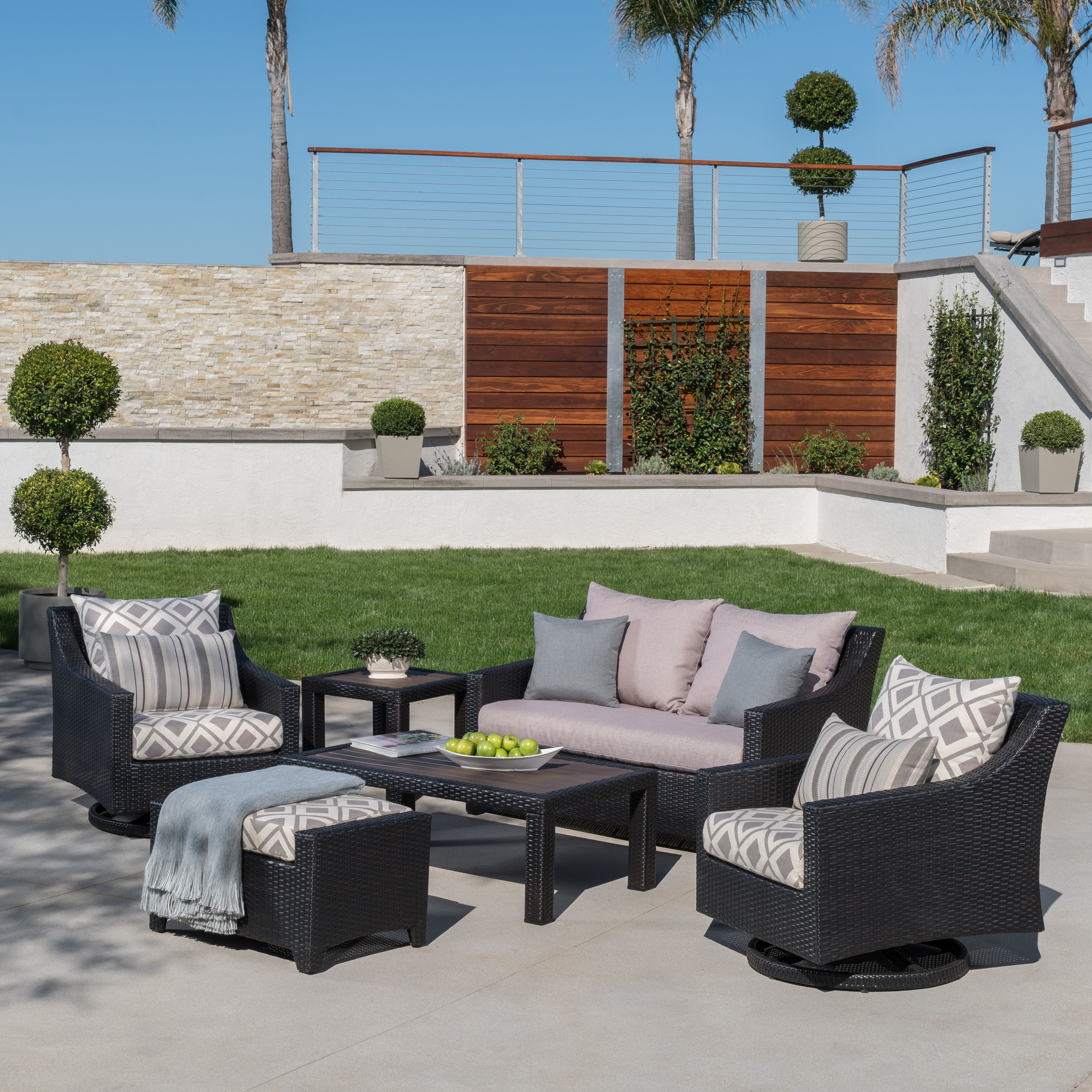 Picture of: Three Posts Northridge 6 Piece Sunbrella Sofa Seating Group With Cushions Reviews Wayfair Ca