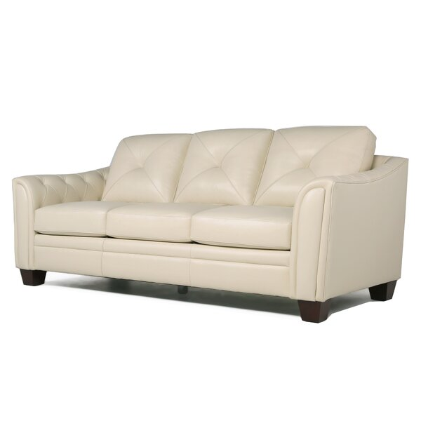 Best Reviews Of Chiang Top Grain Leather Sofa by Red Barrel Studio by Red Barrel Studio