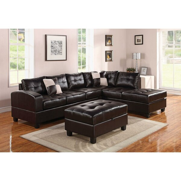 Koontz Living Room Sectional with Ottoman by Latitude Run