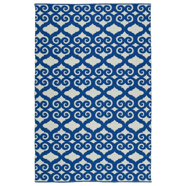 Covington Navy/White Indoor/Outdoor Area Rug by Charlton Home