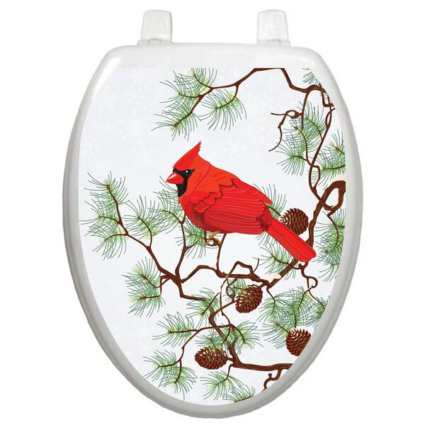 Winter Cardinal Toilet Seat Decal by Toilet Tattoos
